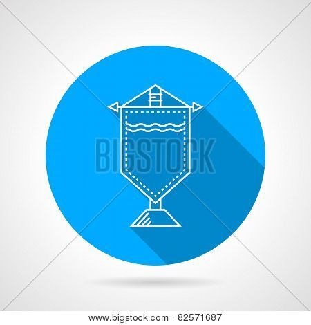 Round vector icon for souvenir pennon