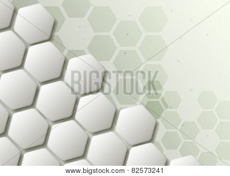 Hexagons technology and communication background