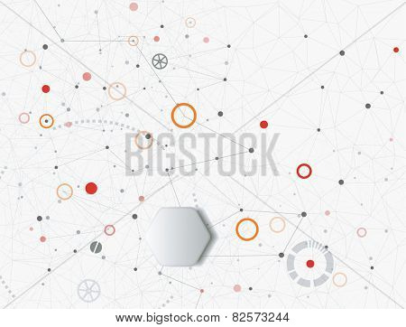 Industry, technology and communication concept background
