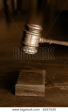 Decision Made Judges Gavel Hitting