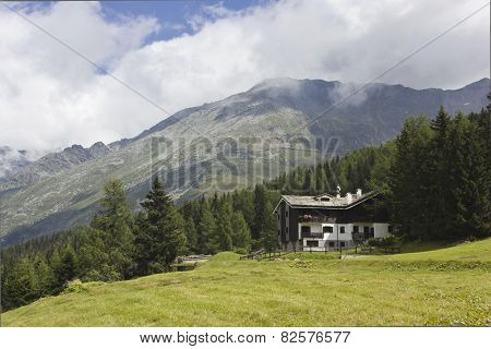 Mountain Landscape Overview In The Summer In Madesimo