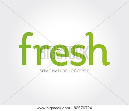 Abstract vector eco nature logo template for branding and design