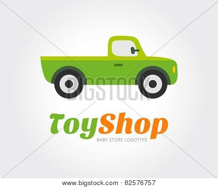 Toy car vector logo template for branding and design