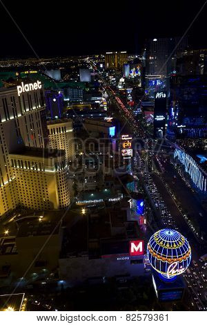 View From The Top Of Paris Tower Of Las Vegas And Its Strip