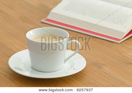 White Coffee Cup In A Business Setting