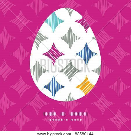 Vector colorful marble textured tiles Easter egg sillhouette frame card template
