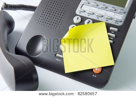 Blank Note Pad On Telephone