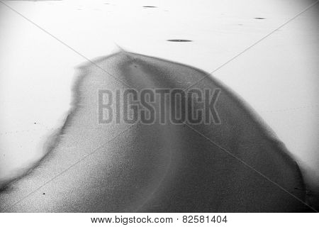 Abstract image of a frozen lake