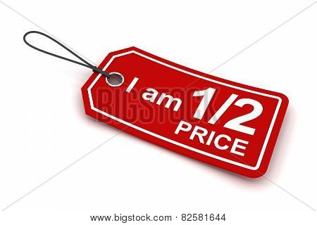 I am half price tag, 3d render