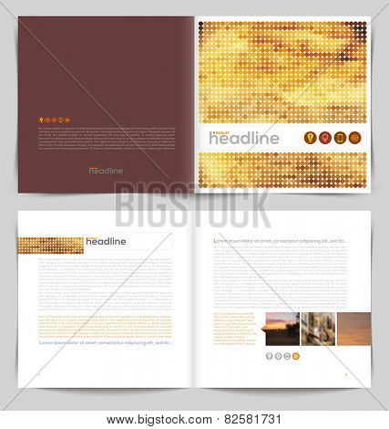 Vector template booklet design - cover and inside pages