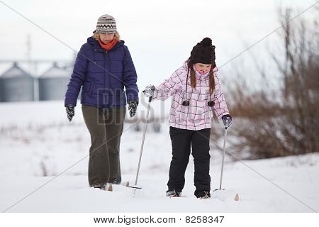 Enjoying Cross-country Skiing