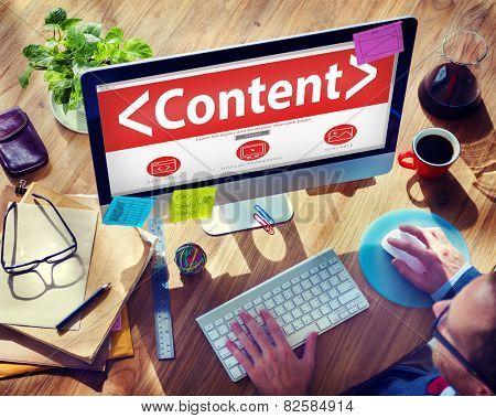 Digital Online Content Business Office Working Concept