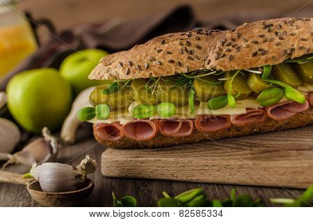 Baguette With The Prague Ham