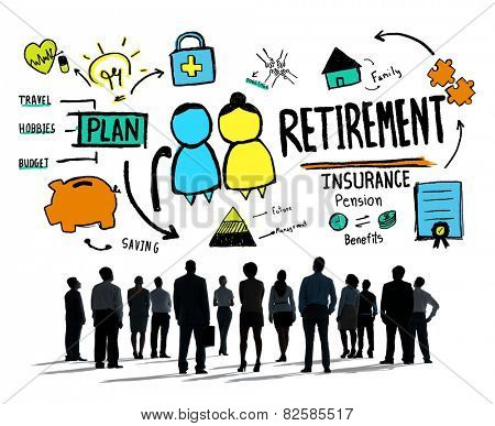 Business People Employee Retirement Vision Aspiration Career Concept