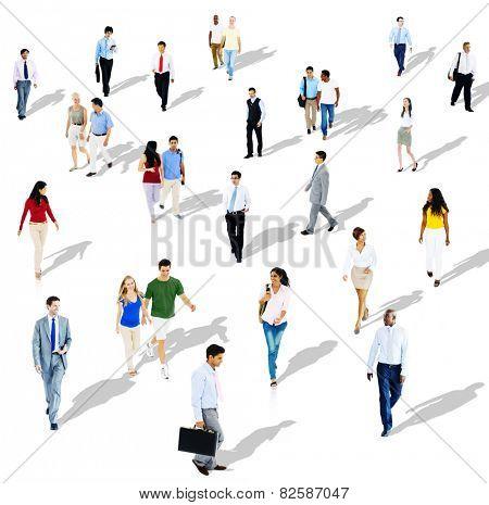Diverse Diversity Ethnic Ethnicity Togetherness Variation Crowd Concept