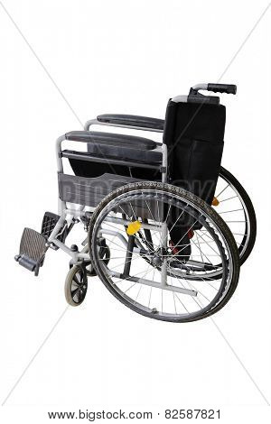 wheelchair on the white background