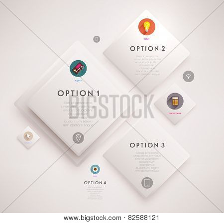 Flyer, Brochure Design Template. Geometric Abstract Modern Background. Mobile Technologies, Applications and Online Services Infographic Concept.