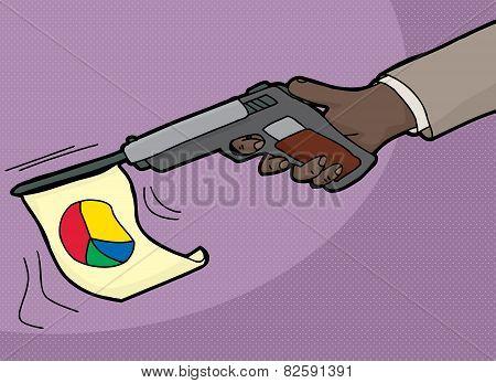 Peace Symbol On Gun