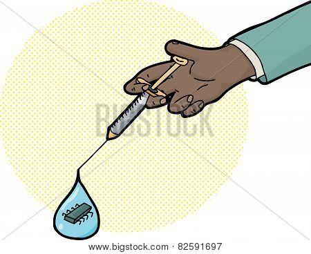 Nanotechnology In Syringe Droplet