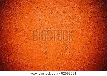 Cement Orange Grunge Paint Background