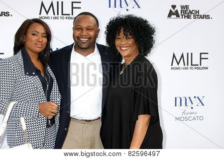 LOS ANGELES - FEB 6:  Heather Lowery, Guest, Sonja Norwood at the MILF (Moms I like To Follow) Celebration Of Entertainment at a SLS Hotel on February 6, 2015 in Beverly Hills, CA