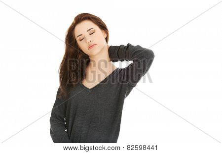 Young female with neck pain