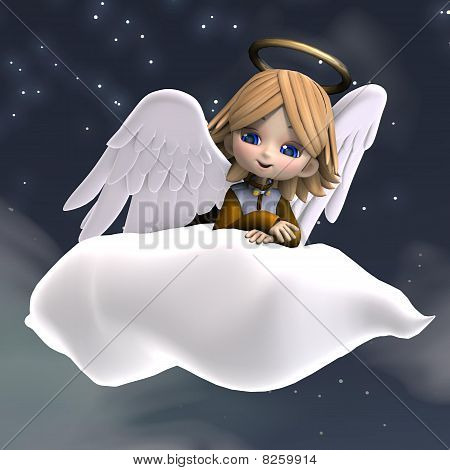 cute cartoon angel with wings and