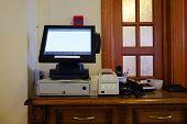 foto of cash register  - Cash register in the restaurant - JPG