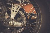 picture of rockabilly  - Motorcycle sprocket and custom chain guard  - JPG