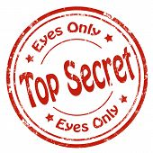 stock photo of top-secret  - Grunge rubber stamp with text Top Secret - JPG