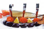 picture of plate fish food  - diet food  - JPG