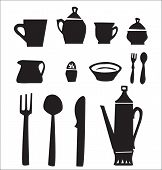 Постер, плакат: Kitchen utensils set