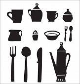 Постер, плакат: Kitchen utensils set