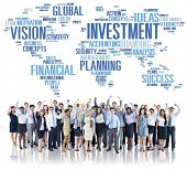 foto of profit  - Investment Global Business Profit Banking Budget Concept - JPG