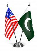 stock photo of pakistani flag  - USA and Pakistan  - JPG