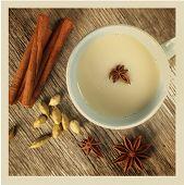 image of cardamom  - Chai tea with cinnamon - JPG