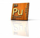 Plutonium Form Periodic Table Of Elements - Wood Board poster