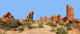 image of garden eden  - Panorama View Garden of Eden Arches National Park Utah USA - JPG