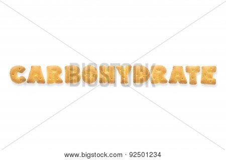 The Letter Word Carbohydrate. Alphabet  Cookie Cracker