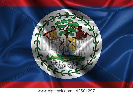 Wavy Flag Of Belize