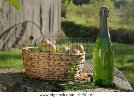 Apples And Cider In Sun