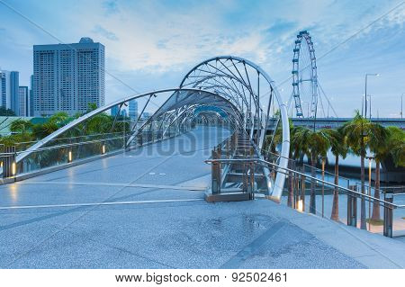 Helix Bridge new Singapore landmarks