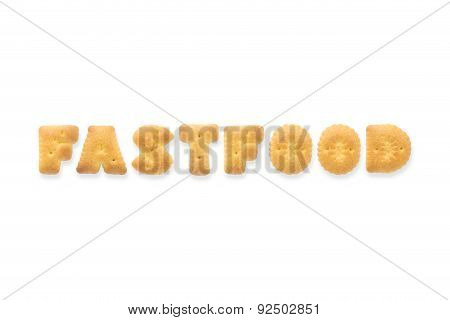 The Letter Word Fastfood Alphabet Biscuit Cracker