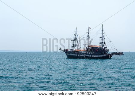 Pleasure Boat In The Sea