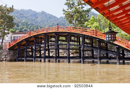Arched Bridge (1557) Of Itsukushima Shrine, Japan. Unesco Site