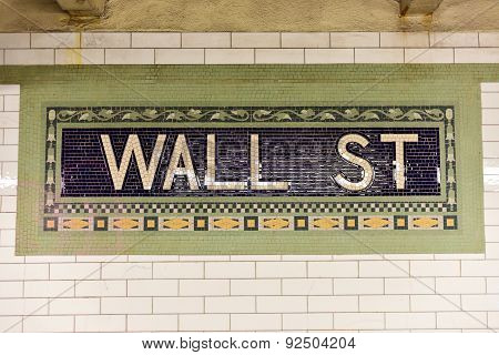 Wall Street Subway Station, New York City