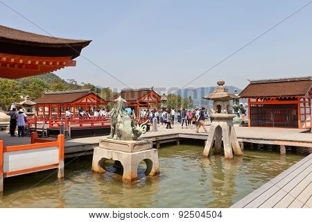 Open Stage Of Itsukushima Shrine, Japan. Unesco Site