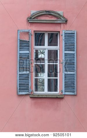 Old Window With Wooden Shutters