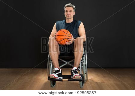 Disabled Player On Wheelchair