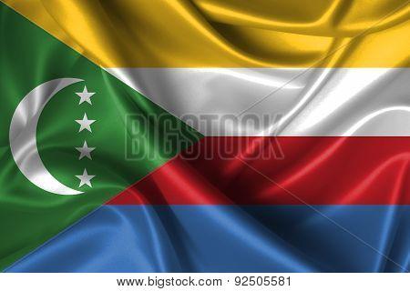 Wavy Flag Of Comoros